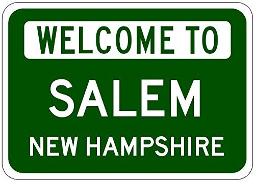 Salem, New Hampshire - Usa Welcome To Sign - Heavy Duty - 12