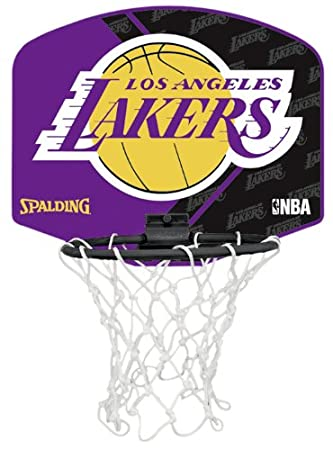 Spalding - Mini Canasta La Lakers: Amazon.es: Deportes y aire libre