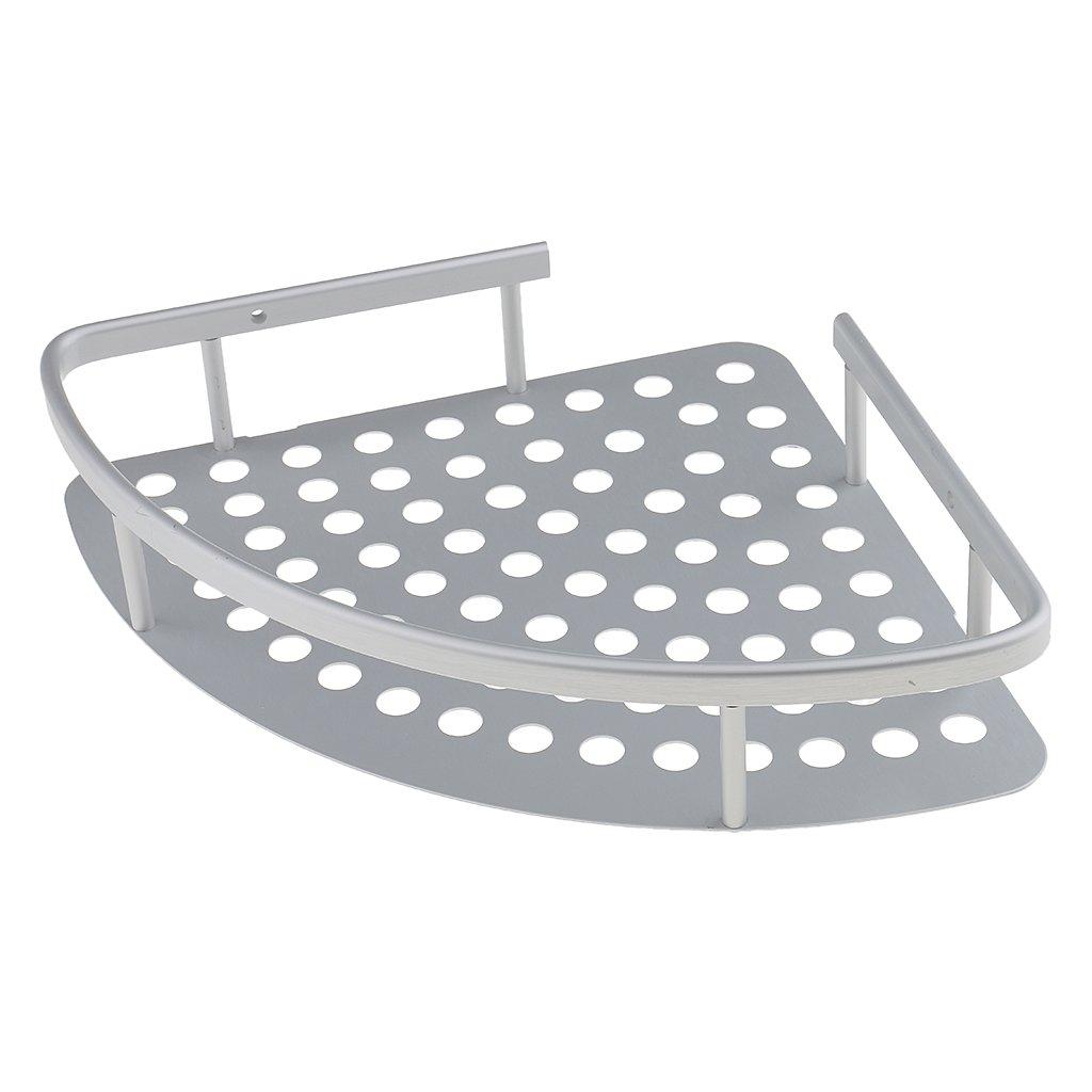 Jili Online Triangular Wall Mounted Rustproof Aluminum Corner Shower Caddy Holder Storage Shelf Bathroom Kitchen Organizer Rack Basket