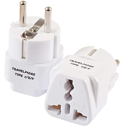 2 Pack European Travel Adapter Plug For European Outlets Type C Type E Type F Europe Plug Adapter Works In France Spain Italy Germany