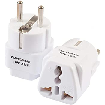 amazon com ceptics europe travel plug adapter type c for most rh amazon com