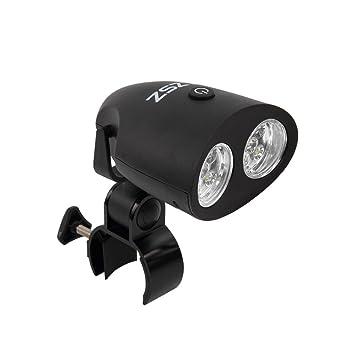 Barbacoa LED Parrilla Luz con 10 luces LED Brillante, Manillar Ajustable Montura IP65 Impermeable Resistente a la Intemperie, abrazadera de metal, ...