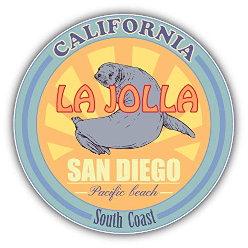 (JJH Inc San Diego California USA South Coast Travel Vinyl Decal Sticker Waterproof Car Decal Bumper Sticker 5