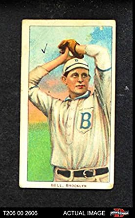 Amazoncom 1909 T206 Abv George Bell Brooklyn Superbas