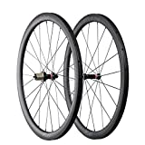 ICAN FL40 Carbon Road Bike Wheelset 40mm Clincher Tubeless Ready Rim 25mm Wide Straight Pull Sapim CX-Ray Spoke 1400g