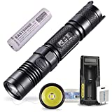 Bundle:Nitecore P12 2015 Version 1000 Lumens CREE XM-L2 U2 LED Tactical Flashlight by EASTSHINE E35 3500mAh 18650 Li-ion Battery UM10 USB Charger
