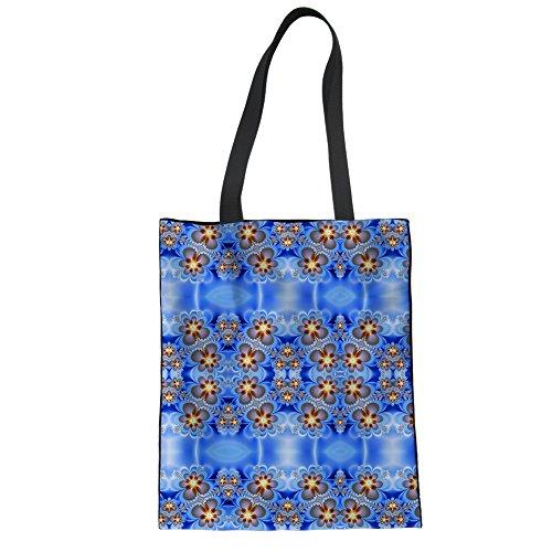 Shopping Women Womens Tote CHAQLIN blue Canvas 1 Groceries Shopper Shoulder for Storage Girls Bag wz4rXzx