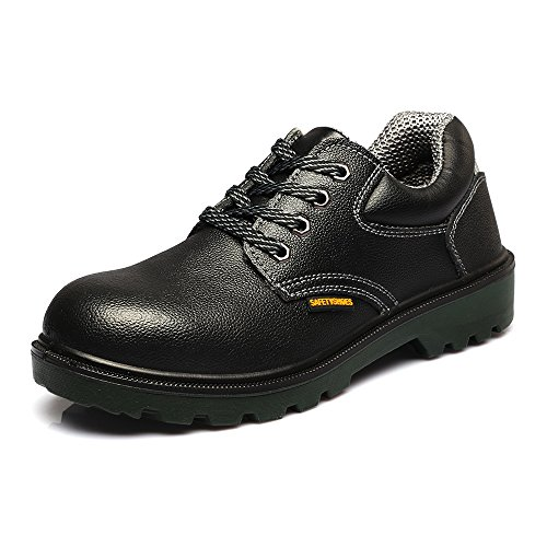 Men's Leather Steel toe Professional Work Shoe JACKBAGGIO 8814 (Harness Racing Equipment)
