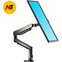North Bayou Monitor Desk Mount Stand Full Motion Swivel Monitor Arm Tension Spring for 22''-32'' Computer Monitor from 4.4-17.6 lbs (Black)