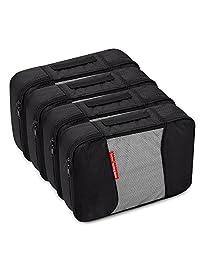 Gonex Packing Cubes Travel Organizer Cubes for Luggage 4xMedium Black