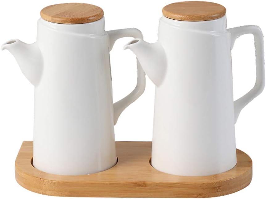 JANSUDY Cocina Olla De Aceite De CeráMica Botella De Condimento De Gran Capacidad Para Almacenamiento Aceite/Salsa De Soja/Vinagre/Vino De Cocina