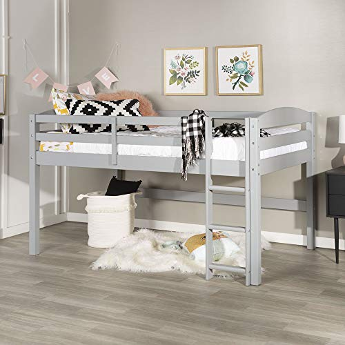 WE Furniture AZWSTOLLGY Loft Twin Bed, Gray ()