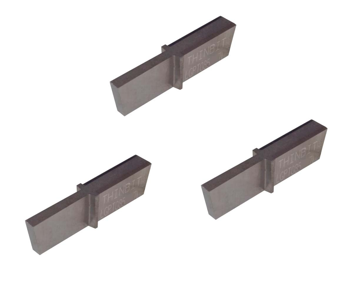 THINBIT 3 Pack LGPT085D27L L Series Uncoated Carbide Cast Iron and Stainless Steel with Interrupted Cuts Parting Insert for Steel