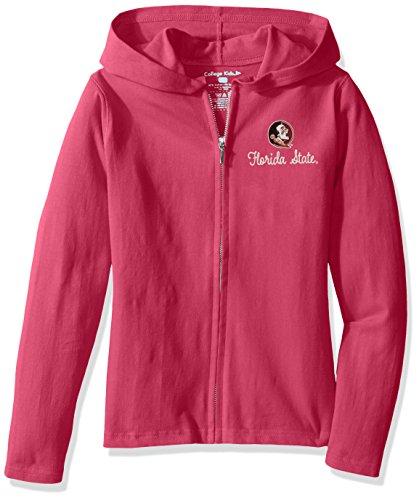 Heart Easy Long Sleeve Tee (NCAA Wisconsin Badgers Girls Sweetheart Zip Hoodie, Size 7/X-Small, Razzmatazz)
