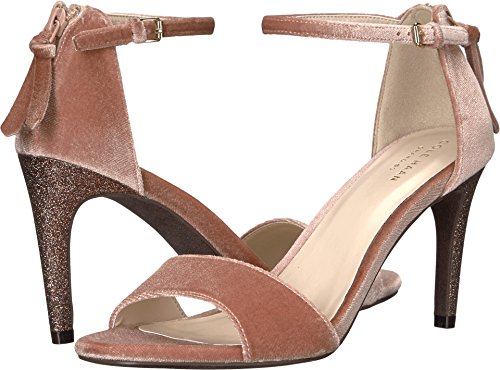 (Cole Haan Women's Clara Grand Sandal 85Mm, Nude Velvet, 8.5 B US)