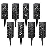 J-Cooper Retro Style Automatic Led Solar Powered LED Garden Lights for Patio, Yard and Garden (6/8 PCS)