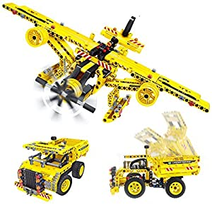 Gili Construction Engineering Building Blocks Toys for Boys Age 6-12, Educational STEM Learning Kits, Creative DIY Fun Gift for Kids 7, 8, 9 Year Old