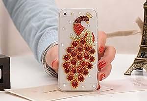 Bling Fashion Rhinestone Design Shining Diamond Peacock Hard Case for Apple Iphone 5/5s (Pink)