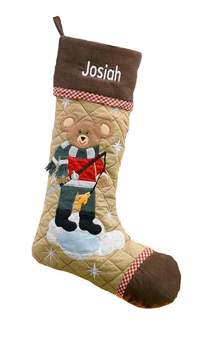 Bear Christmas Stocking.Christmas Stocking Cabin Series Bear