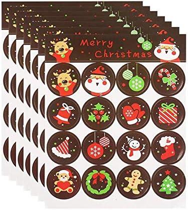 Feliz Navidad Feliz Navidad Gracias Etiquetas Pegatinas Etiqueta Engomada de la Caja de Regalo Artesanía