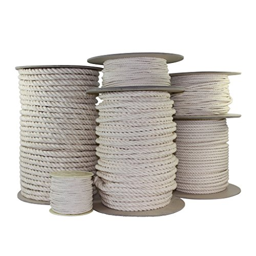 SGT KNOTS Twisted Cotton Rope 3/16 inch All Natural Biodegradable Cord - No Bleach or Dyes - High Strength Low Stretch - DIY Projects, Crafts, Commercial, Pet Toys, Indoor/Outdoor (10 feet)