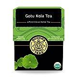 Organic Gotu Kola Tea - Kosher, Caffeine-Free, GMO-Free - 18 Bleach-Free Tea Bags