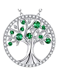 The Tree of Life Valentines Day Created Garnet Necklace Sterling Silver Jewelry Birthday Gift for Women