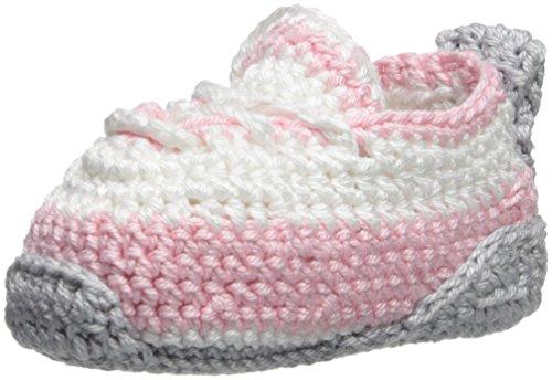 - Jefferies Socks Baby Hand Crochet Bootie, Pink New Born