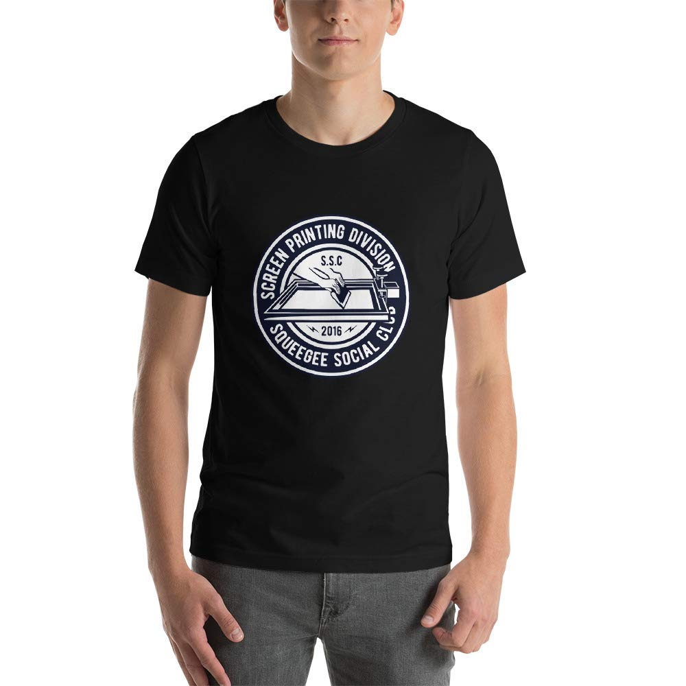Abundant Life Co Screen Printing Printers Gift Short-Sleeve Unisex T-Shirt Black Heather Midnight Navy Black