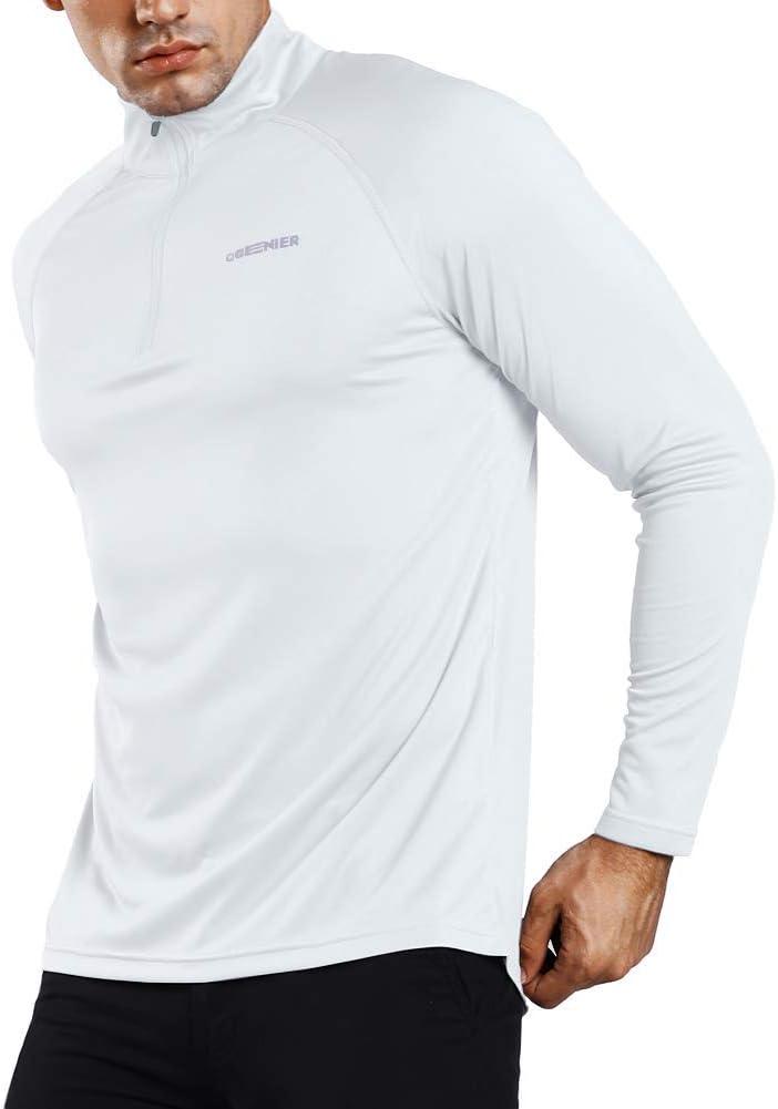Ogeenier Uomo Maglia da Corsa a Maniche Lunghe con Protezione UPF 50+