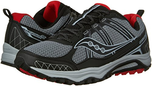Saucony Excursion TR10 Wide Men 8 Grey | Black | Red by Saucony (Image #6)