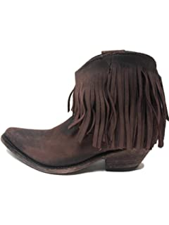 Amazon.com | LIBERTY BLACK Fringe Boot Vegas Faggio Womens - LB ...