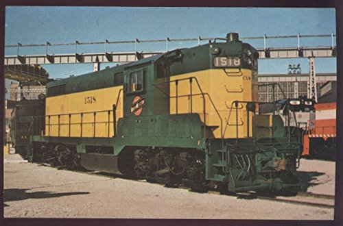 EMD GP7 Locomotive Engine Diesel Chicago Northwestern Railroad Postcard