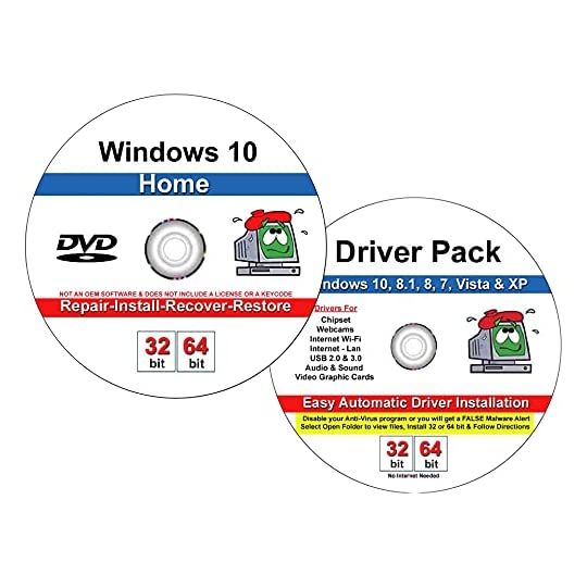 9th & Vine DVD Compatible With Windows 10 Home 32-64 bit & 2019 Drivers Combo. Install To Factory Fresh, Recover, Repair…