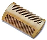 Myhsmooth Gs-sm-n3f Handmade Natural Green Sandalwood No Static Comb-pocket Comb (Beard) with Aromatic Scent for Long and Short Beards-perfect Mustache Comb(3.9