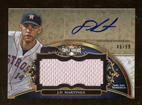 J.D. Martinez 2013 Topps Triple Threads Auto 48/99 Jumbo Relics Astros 47599