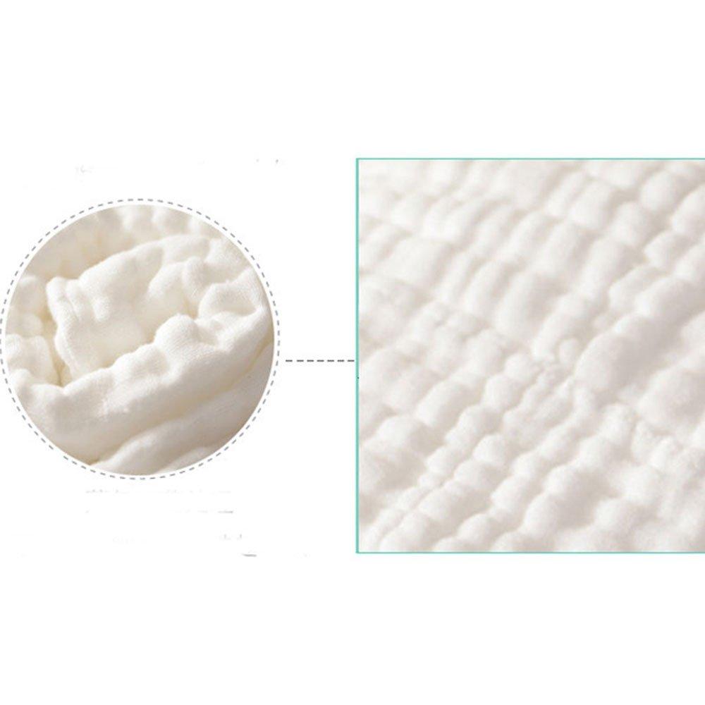 wei/ß Aoming Baby Badetuch//Decke 105 X 105cm 100/% Muslin Cotton