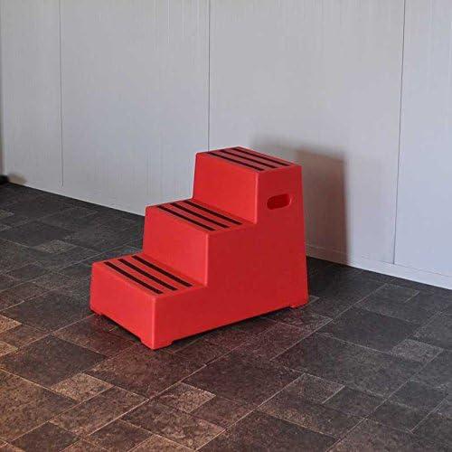 Nedlandic Quality Horse Supplies Aufstiegshilfe Exklusiv mit 3 Stufen Rot