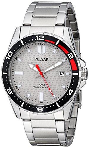 Seiko Men's PS9103 Pulsar Grey Dial (Seiko Mens Grey Dial)