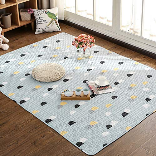 GIY Geometric Living Room Area Rug Soft Rectangular Carpets Children Crawling Bedroom Rug Non-slip Washable Mats Home Decor Outdoor Indoor Runners Gray/White 2' X (White Jet Vac)