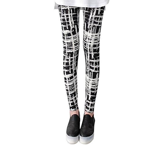 Naier Leggings Ultra Soft Women Yoga Pants High-Waist Tummy Control Lattice US (Spider Woman Outfit)