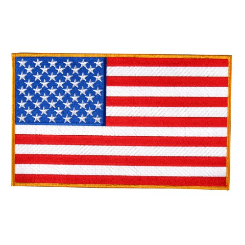 (Hot Leathers American Flag Patch (5