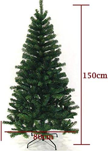 Hengda Artificial Árbol de Navidad, Natural Verde, Material PVC, Incluye Soporte de Base, Soporte en Metal, 150cm 350 Ramas: Amazon.es: Hogar