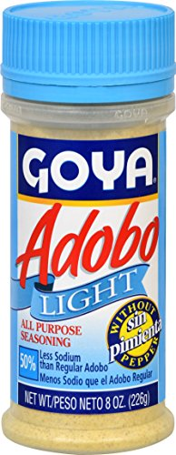 Goya Foods Adobo Light with out Pepper, 8 Ounce (Pack of 24) by Goya