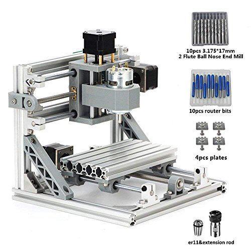 DIY CNC Router Kits 1610 GRBL Control Wood Carving Milling Engraving Machine for Plastic, Wood, Acrylic, PVC, PCB (Working Area 16x10x4.5cm, 3 Axis, (Engraving Acrylic)
