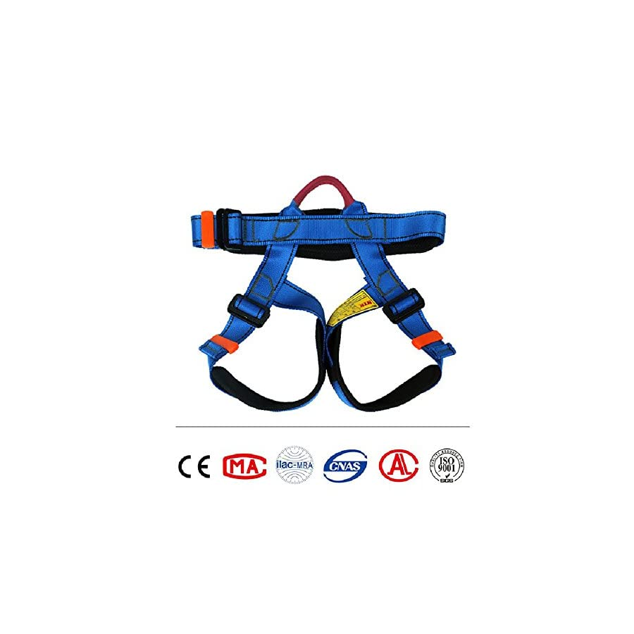 Climbing Harness,Child Half Body Guide Harness,Protect Leg Waist Wider Safe Seat Belts for Mountaineering Outward Band Fire Rescue Working on the Higher Level Caving Rock Climbing Rappelling Equip