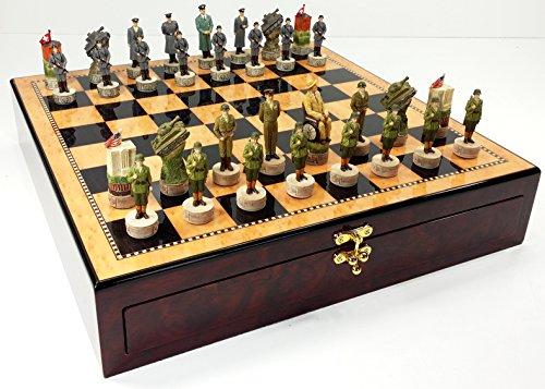 HPL WW2 US Vs Germany Chess Set W/ 17 1/4