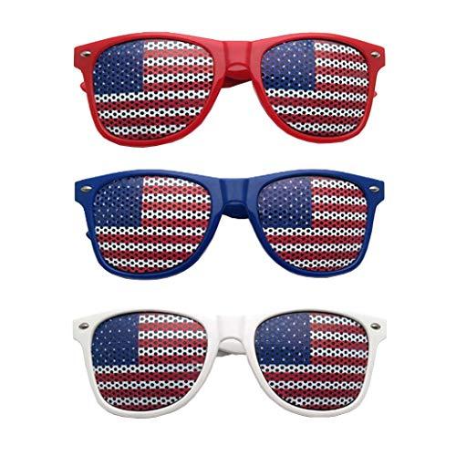 ❤️MChoice❤️American Flag USA Patriotic Design Plastic Shutter Glasses Shades Sunglasses Eyewear for Party Props Decoration