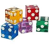 2x NEUF 19mm Précision pour Casino dés/Craps Superbe en différentes couleurs (paire)