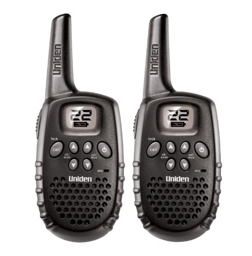Uniden GMR1635-2 16 Mile 22 Channel Battery FRS/GMRS Two-Way Radios Pair, Black, Outdoor Stuffs